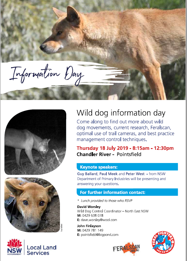3 2019 CHANDLER RIVER wild dog and Feral Scan information day