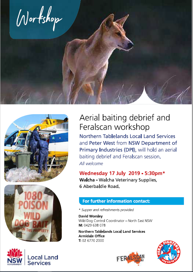 5 2019 WALCHA aerial baiting debrief and Feral Scan session 17.7.19
