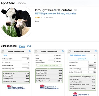 Drought Feed Calculator